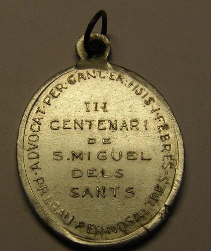 Medalla de Sant Miquel dels Sants, año 1903. P1010016