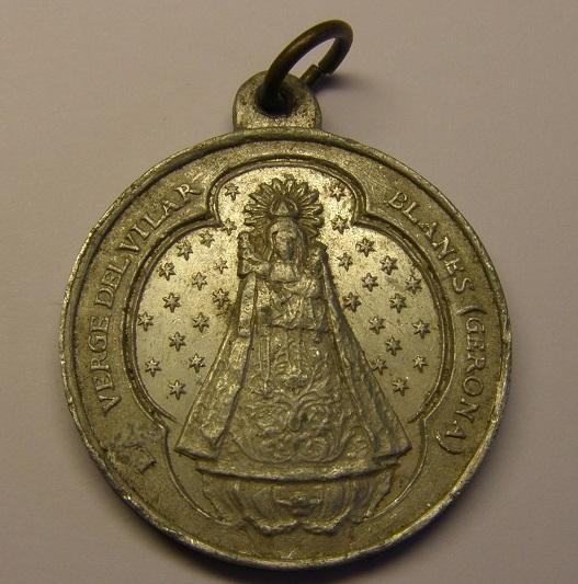 Medalla de la Verge del Vilar, Blanes, Girona, año 1912. (MAM) P1010021