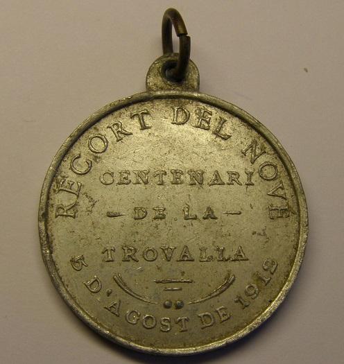 Medalla de la Verge del Vilar, Blanes, Girona, año 1912. (MAM) P1010022