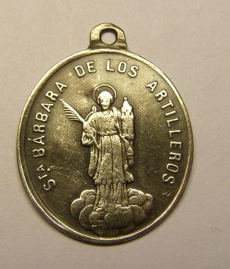 Medalla de Santa Bárbara de los artilleros. Final siglo XIX. P1010611