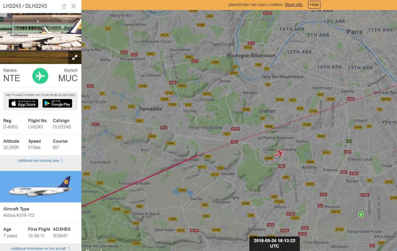 2018: le 24/05 à 18h15 - Ovni en Forme de triangle -  Ovnis à le plessis Robinson -Hauts-de-Seine (dép.92) Clamar10
