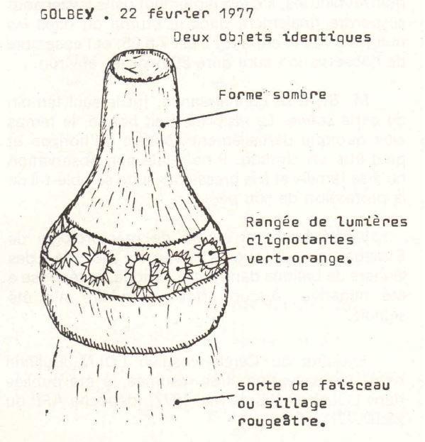 Témoignage d'un objet posé au sol en Haute Garonne Golbey10