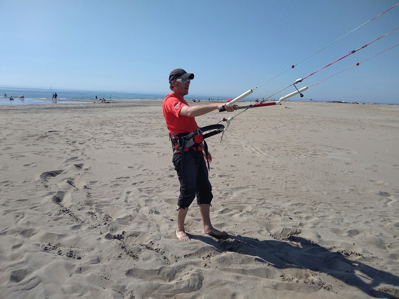 Crochet de harnais kite tandem carbone Pict-111