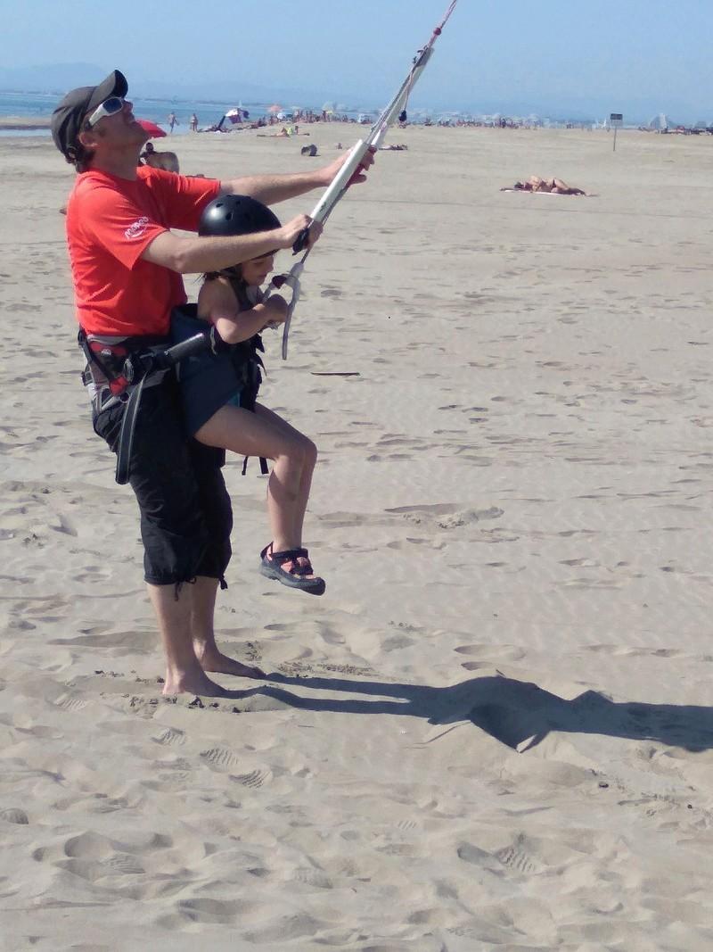 Crochet de harnais kite tandem carbone Pict-310