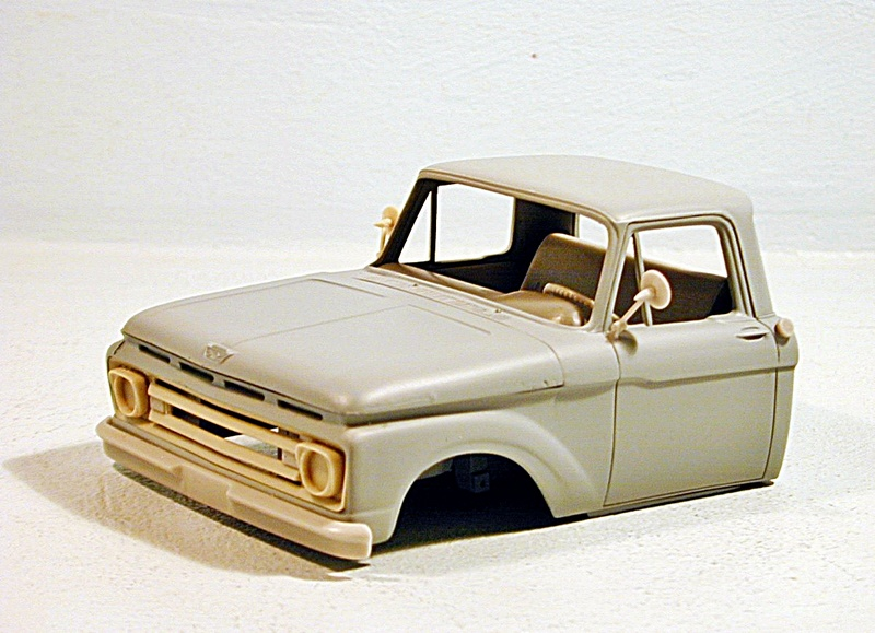 1/25 scale Ford F 100 resin cab kit Ford10