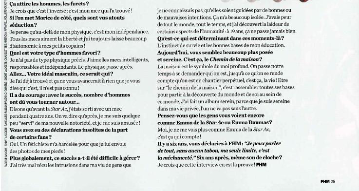 Interviews Presse et vidéo - Page 2 Textef12