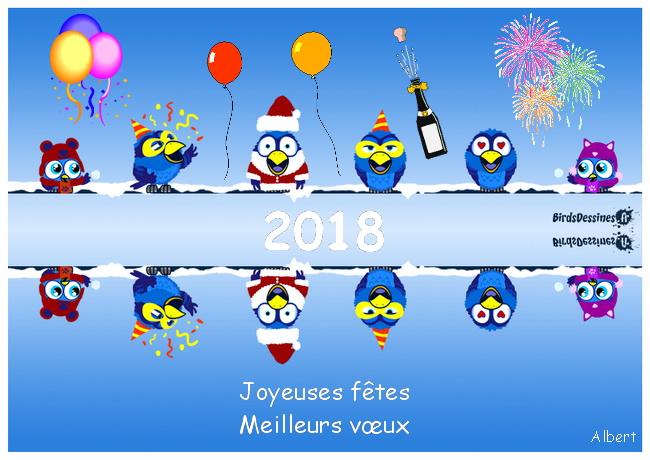 Bonnes fêtes et meilleurs vœux pour l' année 2018 Fond_j15