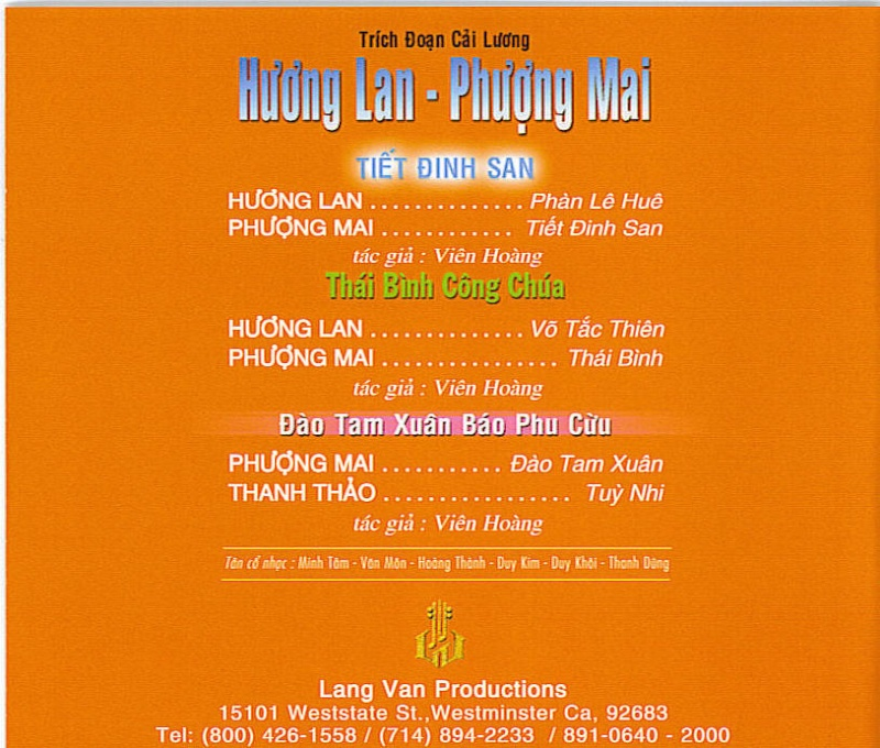 Trích đoạn cải lương - Phượng Mai, Hương Lan Cai_lu11