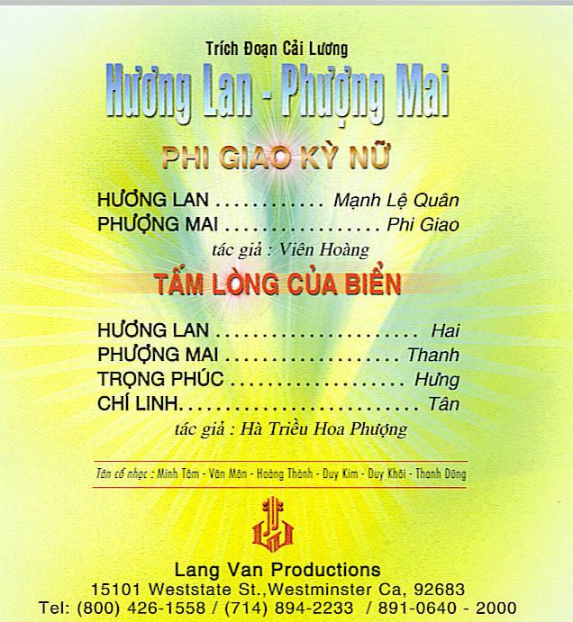 Trích đoạn cải lương - Phượng Mai, Hương Lan Cai_lu15