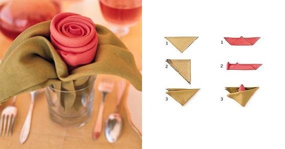 Gấp khăn ăn đẹp cho bàn tiệc Hoakha10