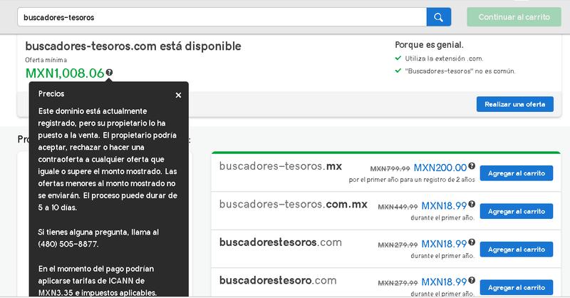 Mi nombre de dominio aparece disponible en subasta pública Buscad10