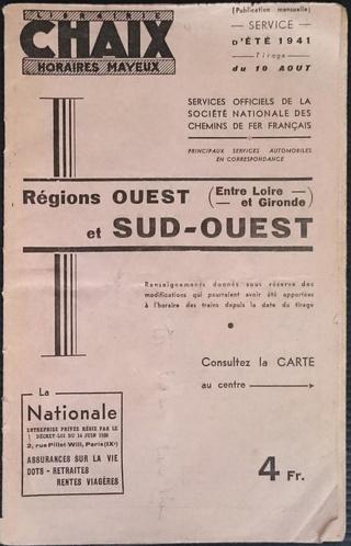A VENDRE : 5 livrets indicateurs horaires (CHAIX, MAYEUX, autres) de 1919 à 1941 Lbc03d11