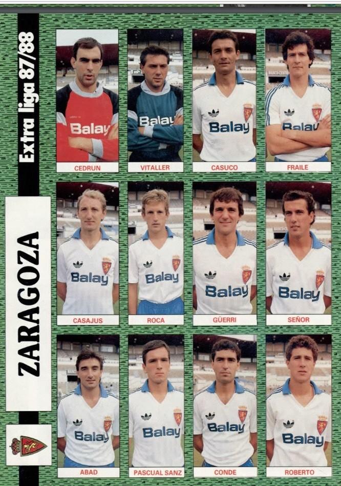 REAL ZARAGOZA 87-88 Celta29