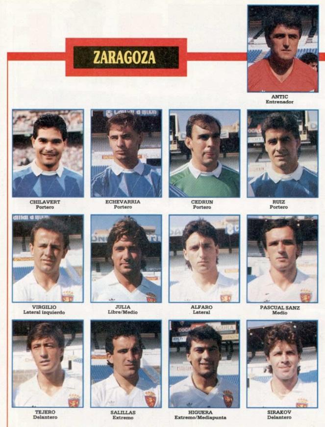 REAL ZARAGOZA 89-90 Sevoyy63