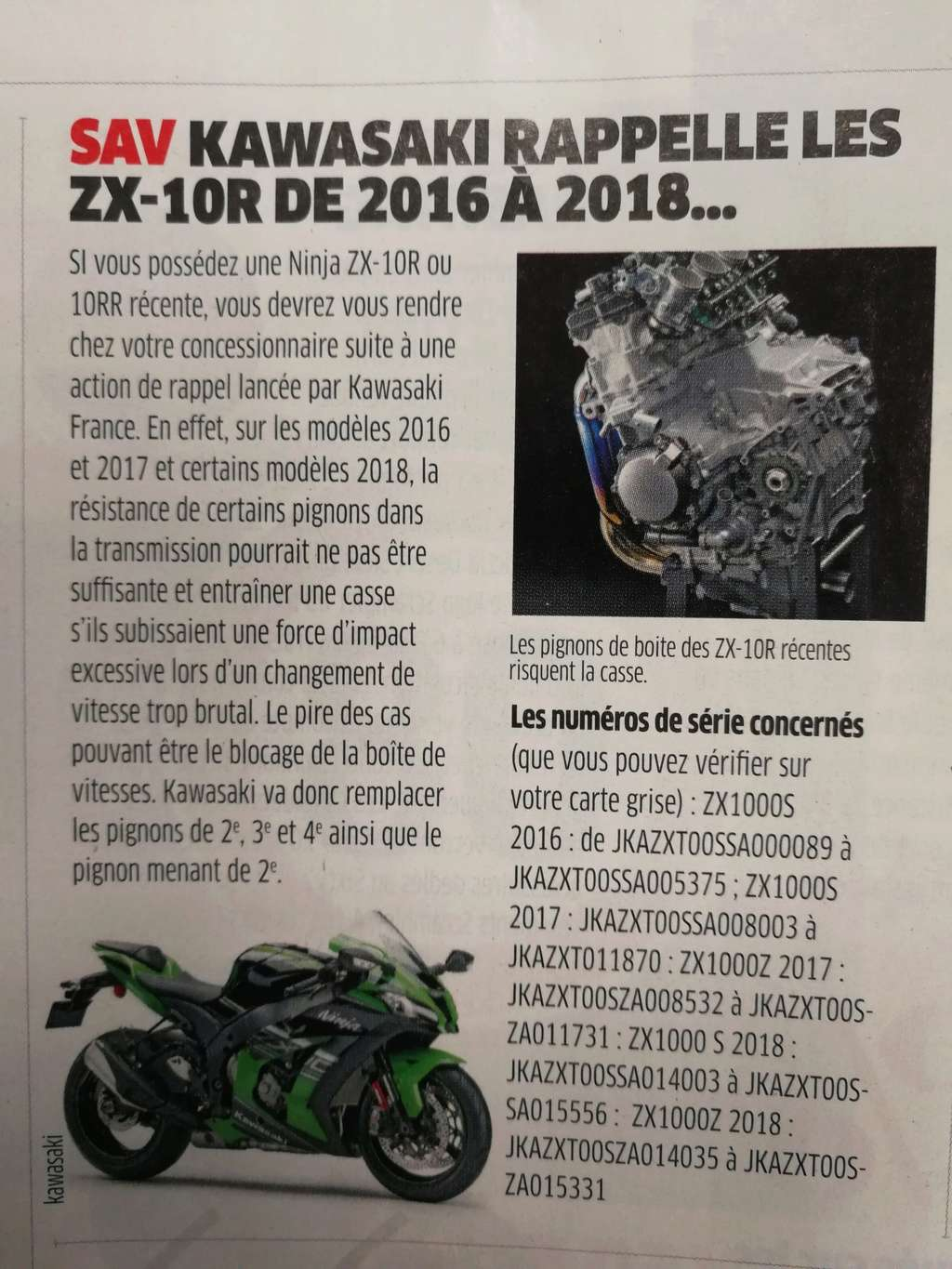 Kawasaki ZX10R 2016  et ZX10RR 2017 - Page 24 Img_2018