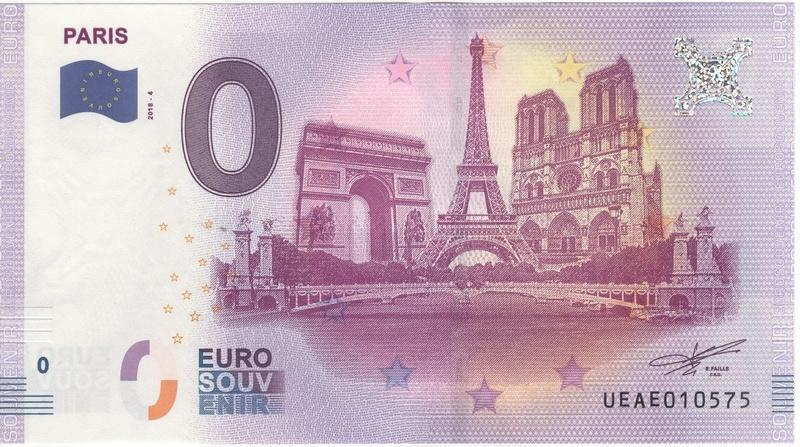 Billets 0 € Souvenirs  [Paris = 81] Numyri18