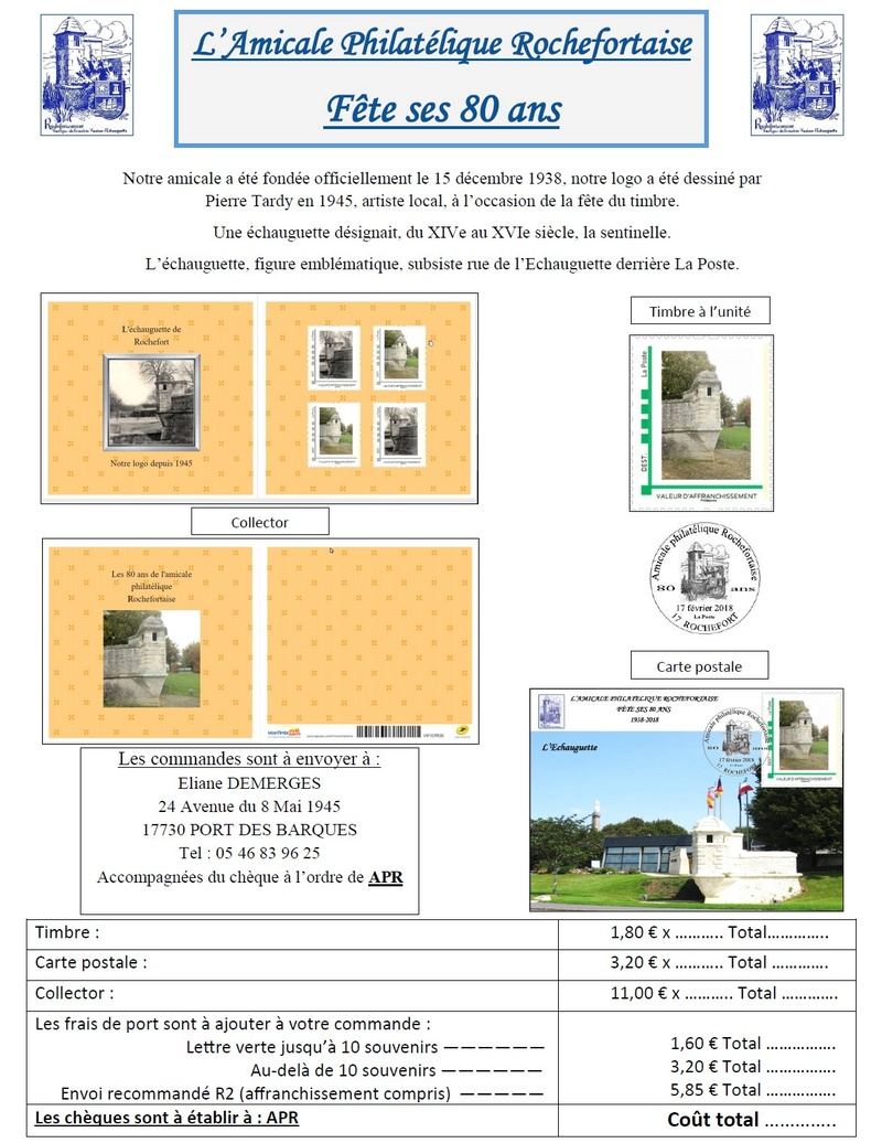 17 - Rochefort - Amicale Philatélique Rochef10