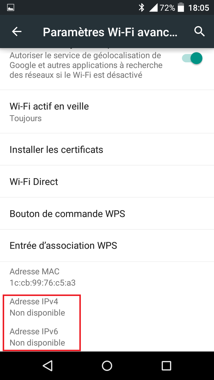 WIFI et Android Screen13