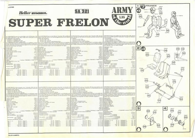 SUD AVIATION SA 335 SUPER FRELON 1/35ème Réf 81196 Notice Dossie60