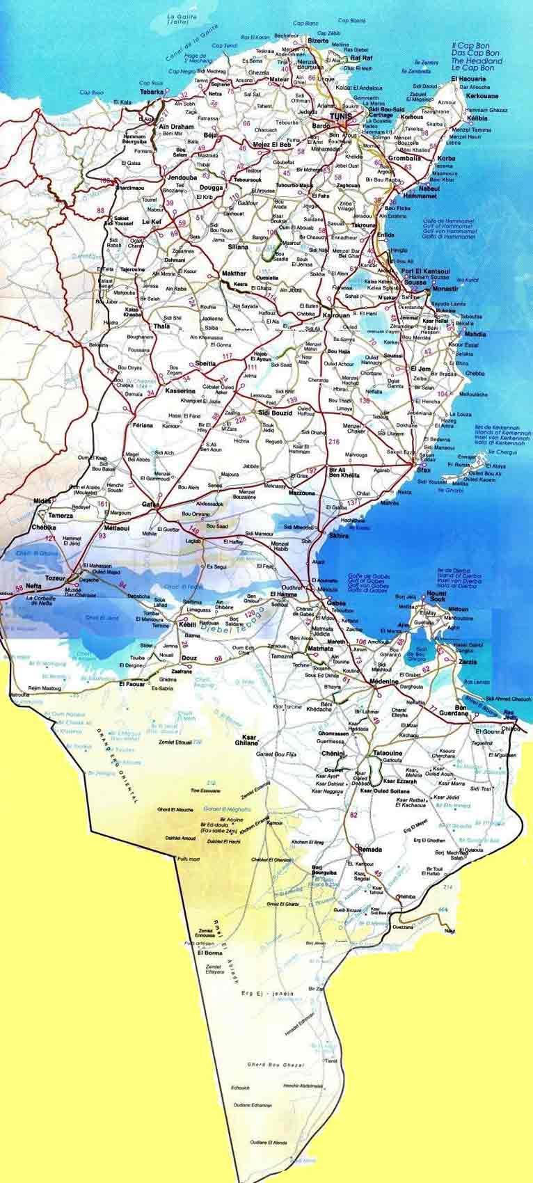 La TUNISIE Map_tu10