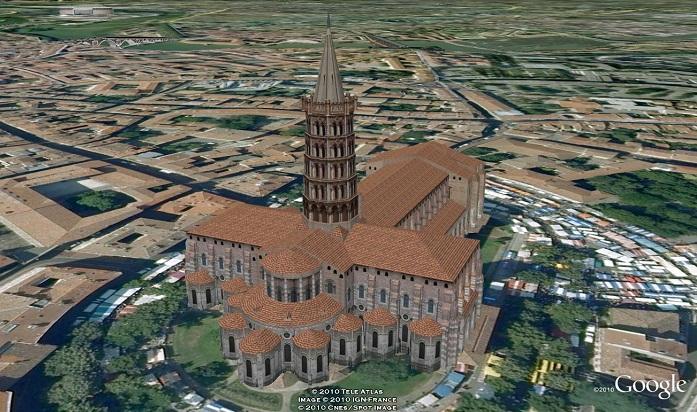 Basilique Saint-Sernin un jour de puces et ... en Chanson [du côté de chez nous] St_ser11