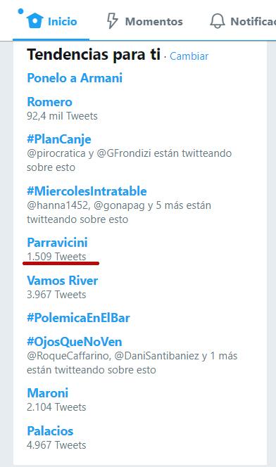 Twitter: Parravicini como tendencia  Untitl13