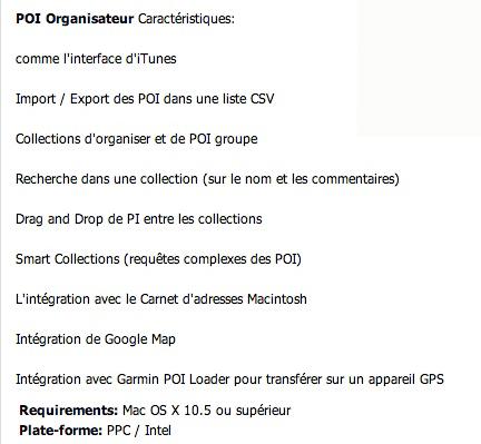 POI Organizer 1.2.2 pour Mac OSX Image-16