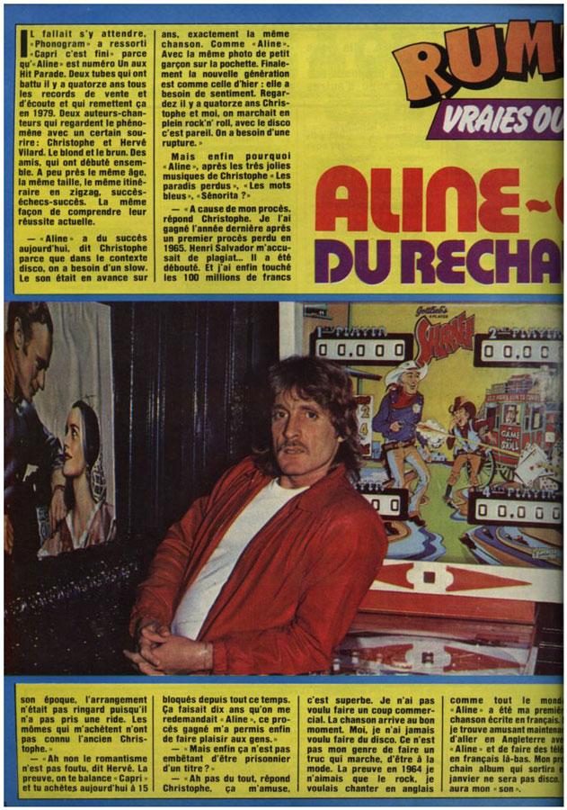 Aline-Capri du réchauffé qui a bon gout hit 94 novembre 1979 Hit94n10