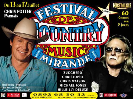 15/07/2011 Christophe à la 19e édition du Festival Country Music de Mirande.  Le-19e10