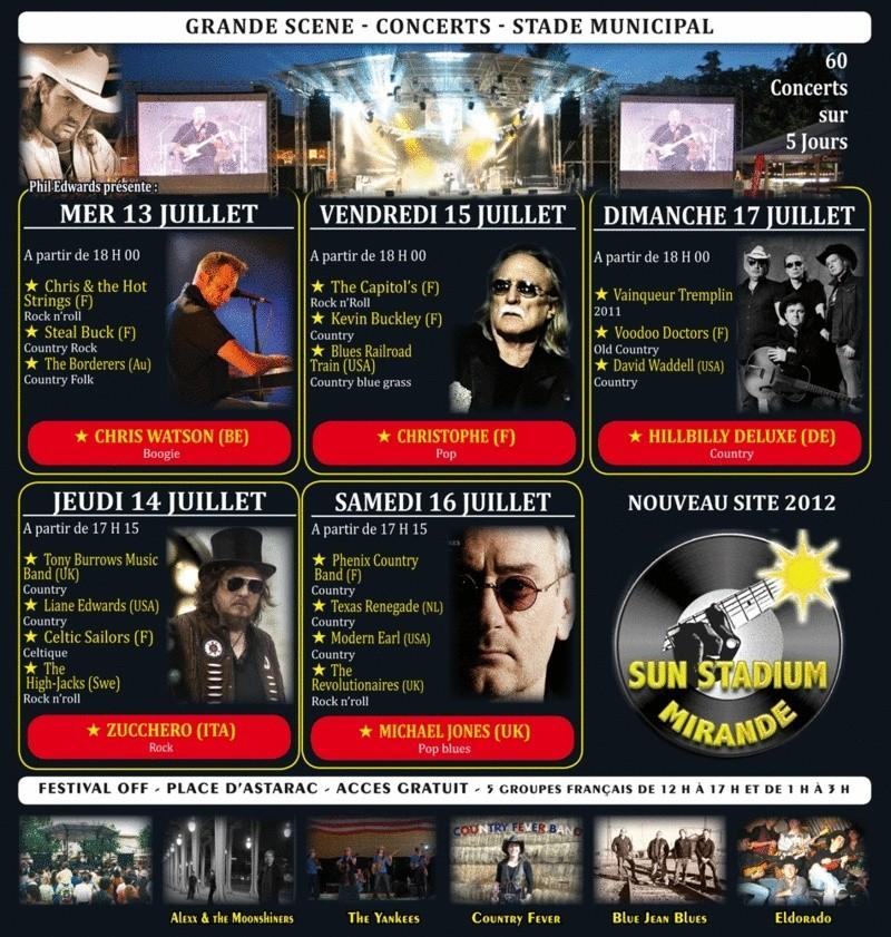 15/07/2011 Christophe à la 19e édition du Festival Country Music de Mirande.  Progra12