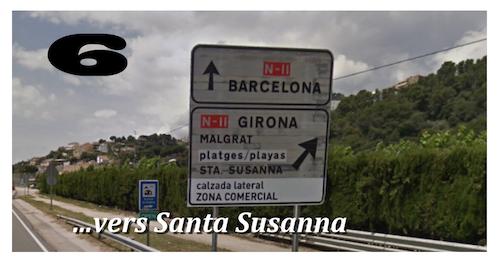 ITINERAIRE SANTA SUSANNA S610