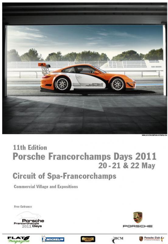 PORSCHE DAYS 2011 DE FRANCORCHAMPS - Page 4 Affich10