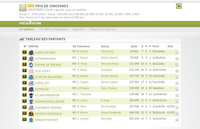 30 décembre, prix de Vincennes Screen27