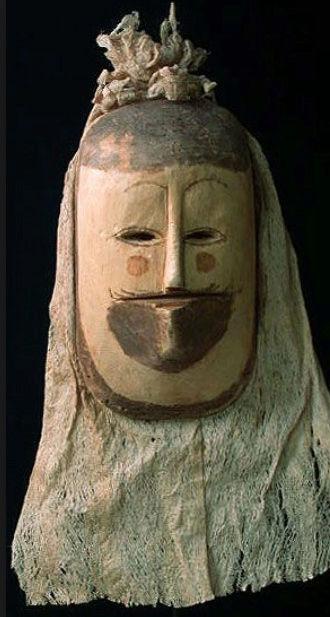 Masque-cagoule / Peuple Ticuna (Haute Amazonie) Captur98