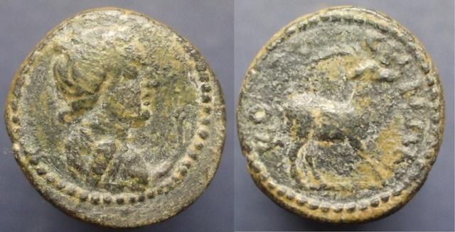 Petit bronze grec (Artemis ? et cerf ?) Colossae Artemi10