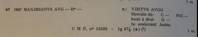 Très rare quinaire Maximien Hercule sur EBay Bastie11