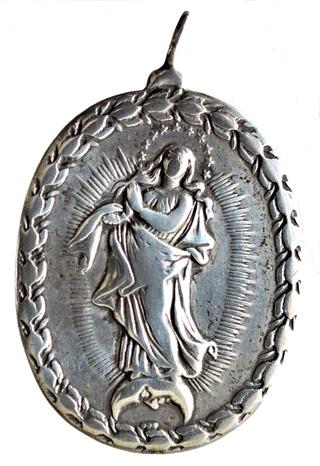 San Pedro d'Alcantara / Inmaculada Concepción (luna esp), S. XVII. (R.M. SXVII-O463) Dsc_2312