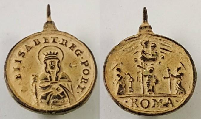Santa Isabel de Portugal / Cuatro Basílicas Papales de Roma S.XVII (R.M.  SXVII -C85) 29467810