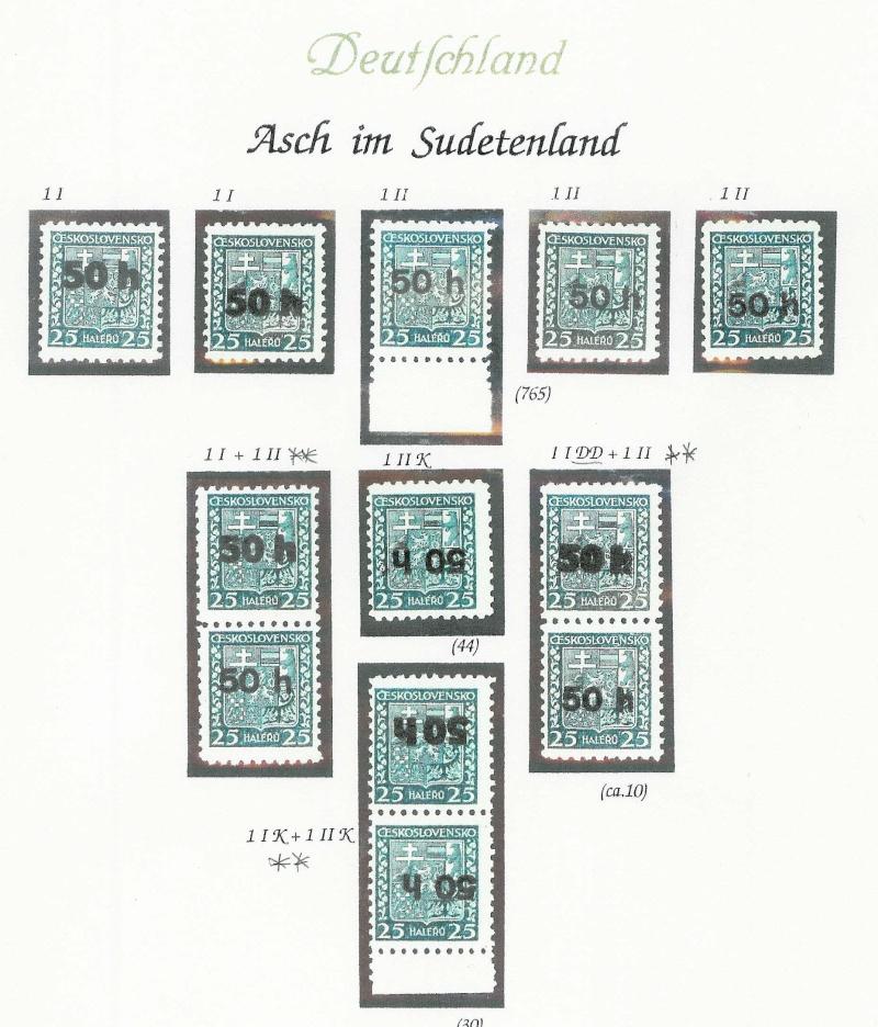 sudetenland - Sensation der Philatelie Asch118