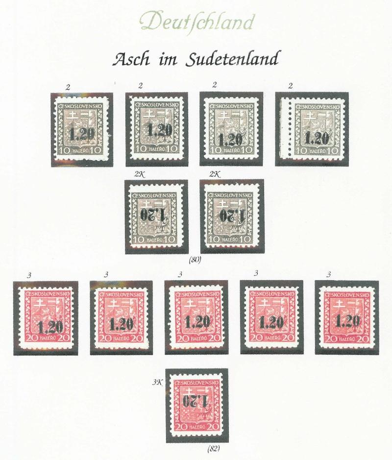sudetenland - Sensation der Philatelie Asch211