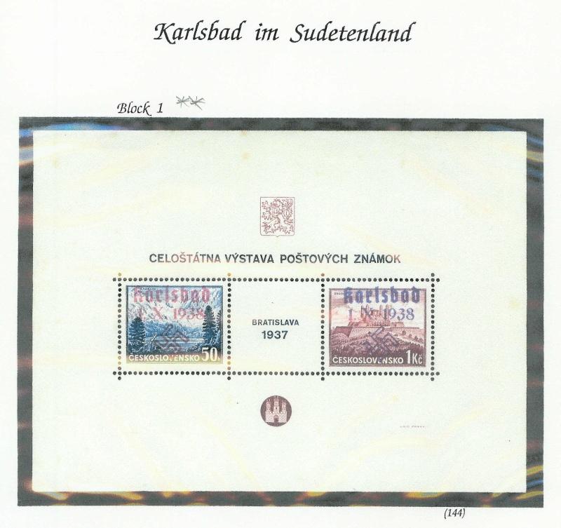 sudetenland - Sensation der Philatelie Karlsb21