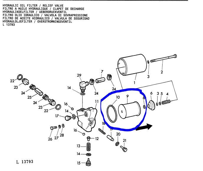 vidange hydraulique et transmission tracto pelle JD310  Captur11