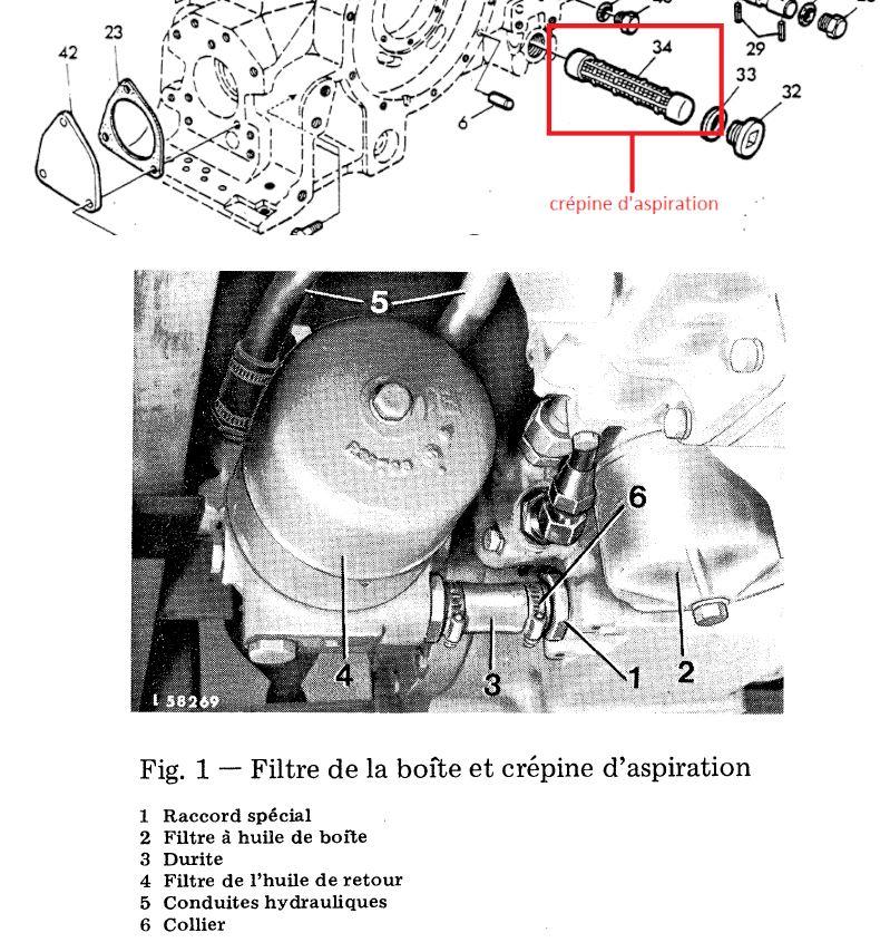 vidange hydraulique et transmission tracto pelle JD310  Captur13