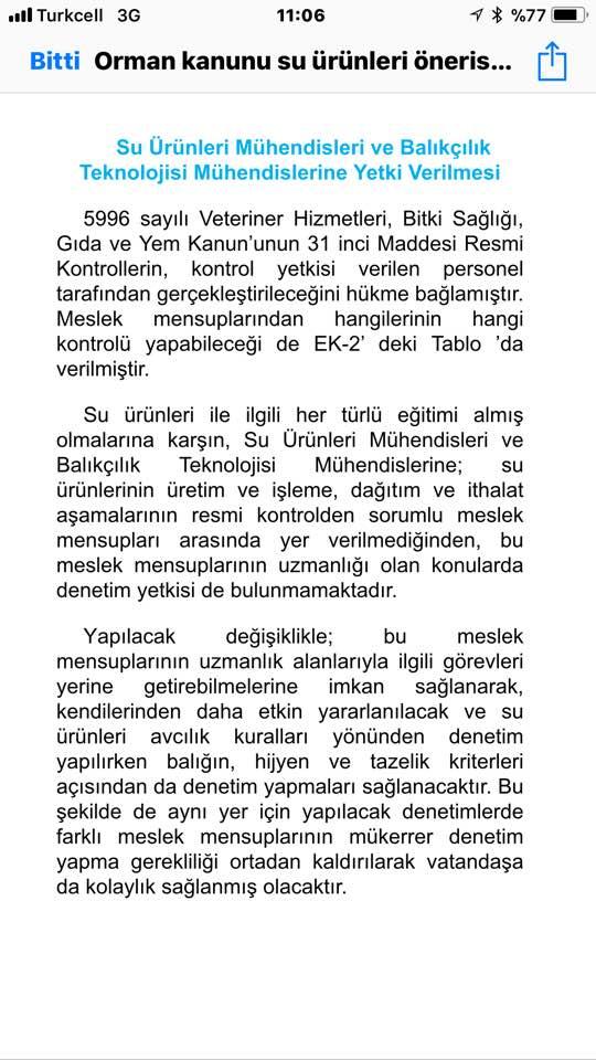 SU ÜRÜNLERİ MÜHENDİSLERİNE YETKİ VERİLMESİ 29594510
