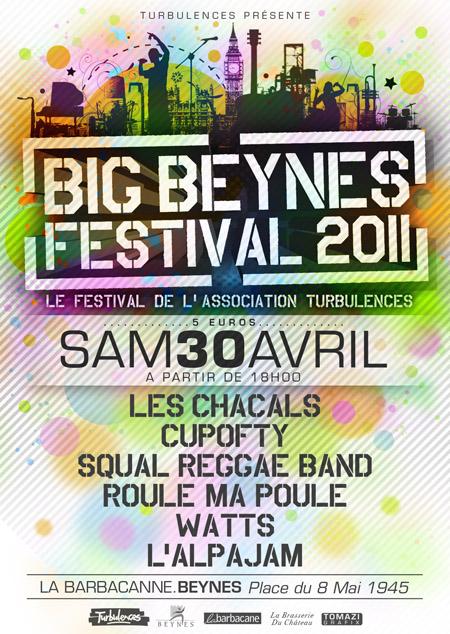CUPOFTY en concert le samedi 30 avril pour le BIG Beynes Festival 2011, à Beynes (78) Affich11