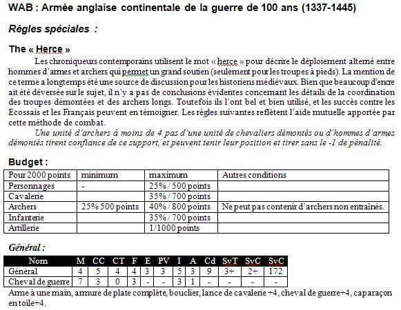 WAB Guerre de 100 ans, Règles spéciales et listes d'armées Crecy012