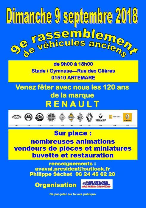 [01] 9/09/2018 9ème rassemblement d'Artemare 120 ans Renault 32145910
