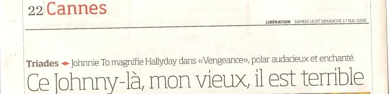 Johnny en couverture de Libération Numari53