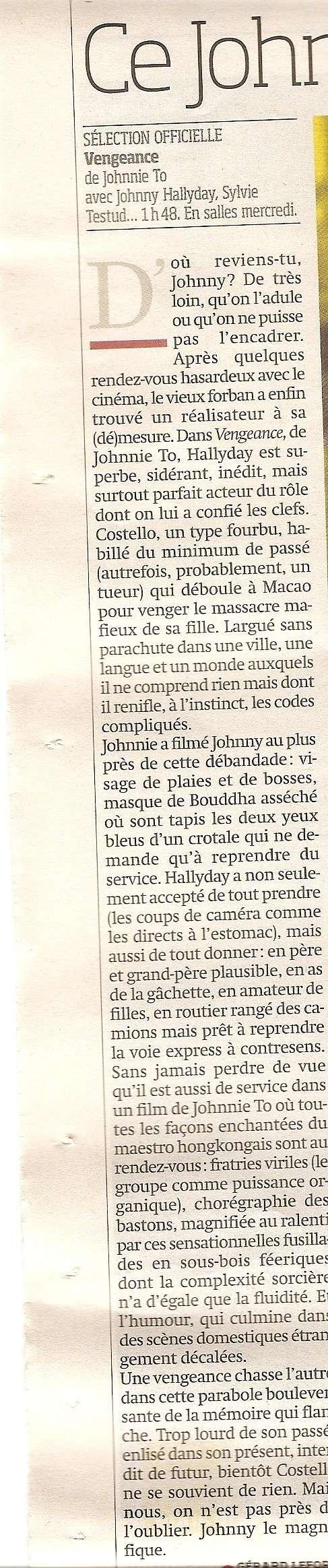 Johnny en couverture de Libération Numari54