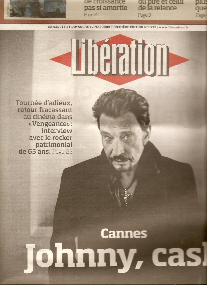 Johnny en couverture de Libération Numari55